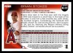 2010 Topps Update #272  Brian Stokes  Back Thumbnail