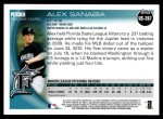 2010 Topps Update #287  Alex Sanabia  Back Thumbnail
