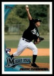 2010 Topps Update #287  Alex Sanabia  Front Thumbnail