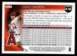 2010 Topps Update #306  Dan Haren  Back Thumbnail