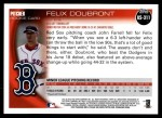 2010 Topps Update #311  Felix Doubront  Back Thumbnail