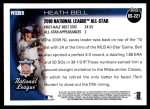2010 Topps Update #221  Heath Bell  Back Thumbnail