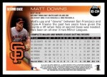 2010 Topps Update #234  Matt Downs  Back Thumbnail