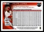 2010 Topps Update #176  Felipe Lopez  Back Thumbnail
