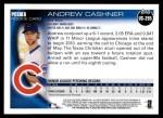 2010 Topps Update #295  Andrew Cashner  Back Thumbnail