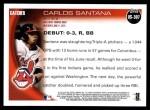 2010 Topps Update #307  Carlos Santana  Back Thumbnail