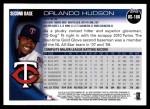 2010 Topps Update #188  Orlando Hudson  Back Thumbnail