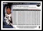 2010 Topps Update #309  Andruw Jones  Back Thumbnail
