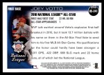 2010 Topps Update #241  Joey Votto  Back Thumbnail