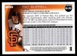 2010 Topps Update #293  Pat Burrell  Back Thumbnail