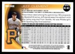 2010 Topps Update #301  Jeff Clement  Back Thumbnail