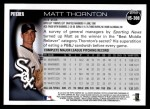 2010 Topps Update #308  Matt Thornton  Back Thumbnail