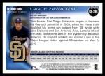 2010 Topps Update #296  Lance Zawadzki   Back Thumbnail