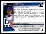 2010 Topps Update #322  John Ely  Back Thumbnail