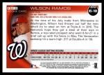 2010 Topps Update #168  Wilson Ramos  Back Thumbnail