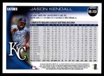 2010 Topps Update #232  Jason Kendall  Back Thumbnail