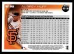 2010 Topps Update #196  Aubrey Huff  Back Thumbnail