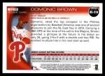 2010 Topps Update #318  Domonic Brown  Back Thumbnail