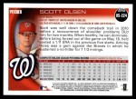 2010 Topps Update #224  Scott Olsen  Back Thumbnail