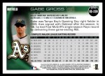 2010 Topps Update #239  Gabe Gross  Back Thumbnail