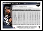 2010 Topps Update #227  Mark Kotsay  Back Thumbnail