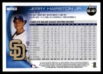 2010 Topps Update #207  Jerry Hairston Jr.  Back Thumbnail