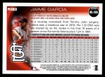 2010 Topps Update #285  Jaime Garcia  Back Thumbnail
