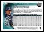 2010 Topps Update #262  Rob Johnson  Back Thumbnail