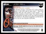 2010 Topps Update #225  Josh Bell   Back Thumbnail