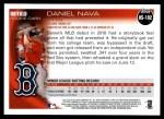 2010 Topps Update #192  Daniel Nava  Back Thumbnail