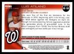 2010 Topps Update #183  Luis Atilano  Back Thumbnail