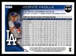 2010 Topps Update #264  Vicente Padilla  Back Thumbnail