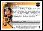 2010 Topps Update #235  Jose Tabata  Back Thumbnail