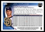 2010 Topps Update #166  Jon Garland  Back Thumbnail
