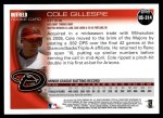 2010 Topps Update #314  Cole Gillespie  Back Thumbnail