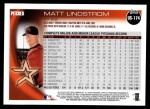 2010 Topps Update #174  Matt Lindstrom  Back Thumbnail