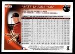 2010 Topps Update #174  Matt Lindstrom  Back Thumbnail