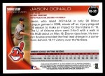 2010 Topps Update #321  Jason Donald  Back Thumbnail
