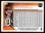 2010 Topps Update #297  Don Kelly   Back Thumbnail