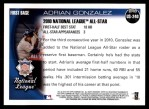 2010 Topps Update #240  Adrian Gonzalez  Back Thumbnail