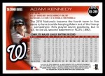 2010 Topps Update #289  Adam Kennedy  Back Thumbnail