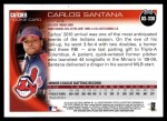2010 Topps Update #330  Carlos Santana  Back Thumbnail