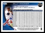 2010 Topps Update #266  Billy Wagner  Back Thumbnail