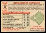1956 Topps #90 D55  Reds Team Back Thumbnail