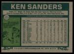 1977 Topps #171  Ken Sanders  Back Thumbnail