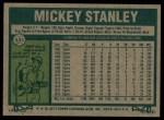1977 Topps #533  Mickey Stanley  Back Thumbnail