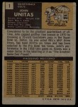 1971 Topps #1  Johnny Unitas  Back Thumbnail
