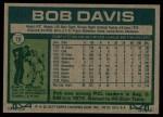 1977 Topps #78  Bob Davis  Back Thumbnail