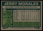 1977 Topps #639  Jerry Morales  Back Thumbnail