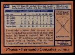 1978 Topps #433  Fernando Gonzalez  Back Thumbnail